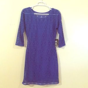 Express Royal Blue Lace Dress, new with tags!
